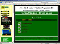 Greek Vocabulary Online Education Software Program | Learn Greek Vocabulary Online with Flash